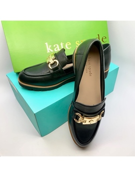 Kate Spade Ny Black Kolby Leather Loafers Shoesnwt/New by Kate Spade