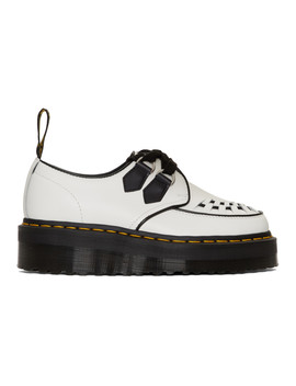 White Sidney Chunky Wedge Derbys by Dr. Martens