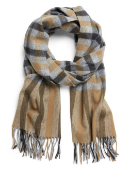 Plaid Wool Blend Scarf by Banana Repbulic