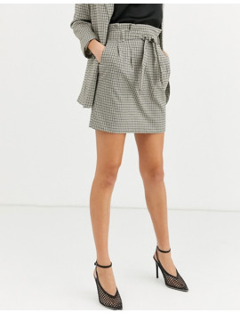 New Look Tall Check Skirt In Black Pattern by New Look