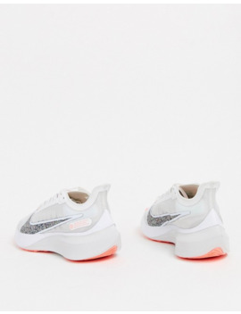 Nike Running Air Zoom Gravity Sneakers In White by Nike