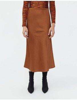Madina Slip Skirt In Mocha by Stelen Stelen