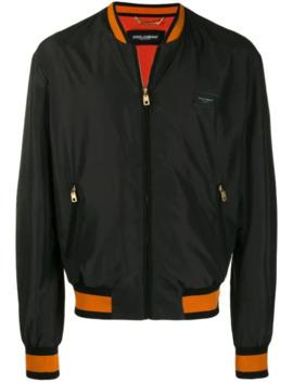 logo-plaque-bomber-jacket by dolce-&-gabbana