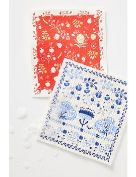 Isla Swedish Dishcloths, Set Of 2 by Anthropologie