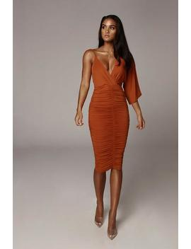 Rust So Elevated Dress by Jluxlabel
