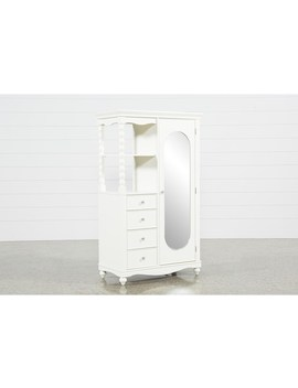 Madison White Armoire by Living Spaces