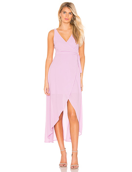 Rona Wrap Dress In Mauve by Line & Dot