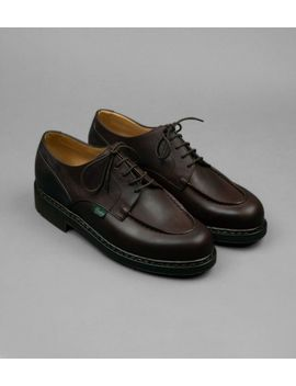 Paraboot Chambord Café Leather Shoe by Drake's