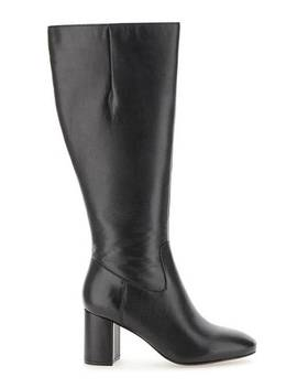 Leather High Leg Boots Wide E Fit Super Curvy Calf Width by Simply Be