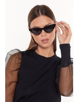 All Eyes On The Purr Ize Cat Eye Sunglasses by Nasty Gal