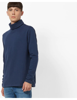 Turtleneck Sweatshirt With Full Sleeves by Deezeno