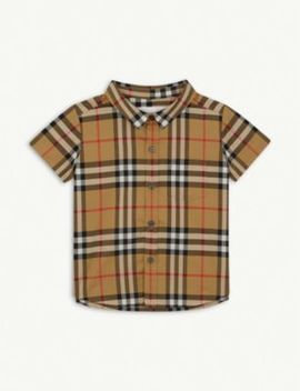 Fred Checked Cotton Shirt 6 36 Months by Burberry