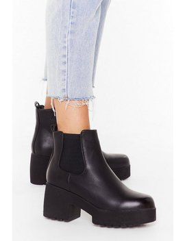 Cleated Platform Chelsea Boots by Nasty Gal