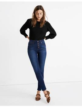 "Petite 9"" Mid Rise Skinny Jeans In Julie Wash: Button Front Tencel™ Denim Edition by Madewell"