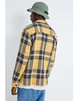 "Urban Outfitters – Langärmlige Karo Hemdjacke ""Big Ryder"" In Gelb. by Urban Outfitters Shoppen"