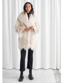 Oversized Shaggy Faux Fur Coat by & Other Stories