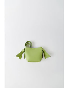Micro Leather Bag Pale Green by Acne Studios