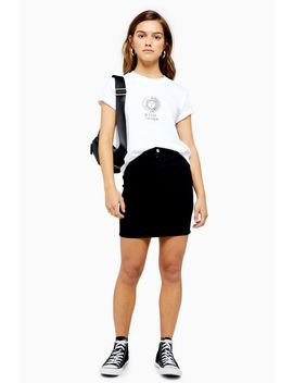 Petite Black Denim Joni Mini Skirt by Topshop