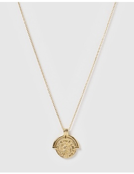 Wylde Gold Pendent Necklace by Arms Of Eve