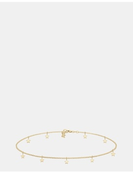 Necklace Women Choker Chain Star Astro Look Basic 925 Sterling Silver Gold Plated by Elli Jewelry
