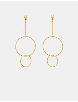 Circle Drop Earrings by Ca Jewellery