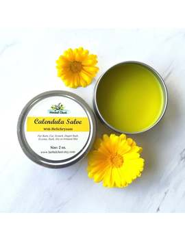 Calendula Helichrysum Salve, Natural Herbal Healing Balm For Eczema Sensitive Baby Rash Skin, Organic Shea Butter Moisturizer Soothing Cream by Etsy