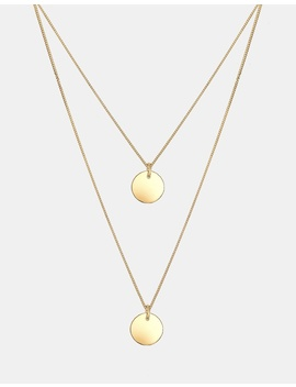 Necklace 925 Sterling Silver Gold Plated Layered Circle by Elli Jewelry