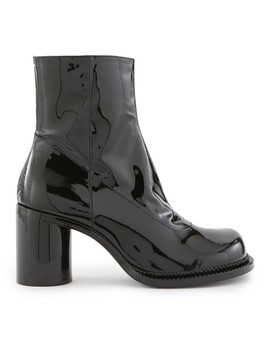 Patent Leather Ankle Boots by Maison Margiela