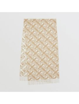 Monogram Cashmere Jacquard Scarf by Burberry