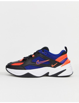 Nike M2 K Tekno Sneakers In Black And Navy Av4789 006 by Nike
