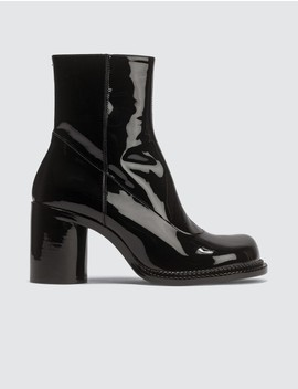 Ankle Patent Leather Boots by Maison Margiela