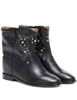 Cluster Leather Ankle Boots by Isabel Marant