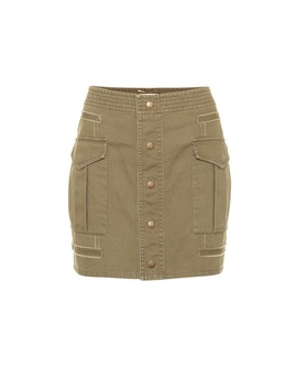 Cotton Gabardine Miniskirt by Saint Laurent