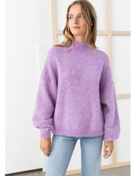 Oversized Fuzzy Wool Blend Sweater by & Other Stories