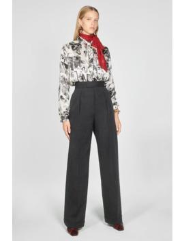 Straight Wool Trousers by Zara