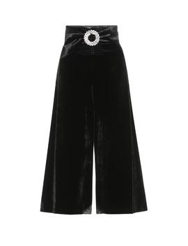 Velvet High Rise Midi Skirt by Miu Miu