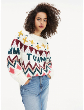 Grobstrick Pullover Im Fair Isle Stil by Tommy Jeans