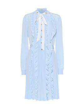 Ruffled Silk Midi Dress by Miu Miu