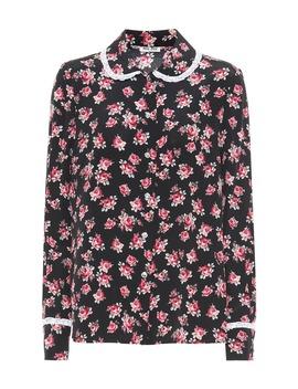Floral Silk Shirt by Miu Miu