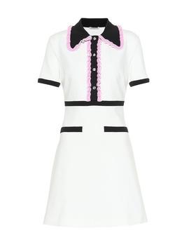 Ruffled Midi Dress by Miu Miu