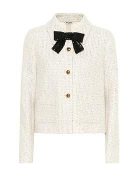 Embellished Tweed Jacket by Miu Miu
