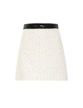 Embellished Tweed Miniskirt by Miu Miu