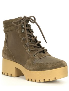 Greater Hiker Platform Block Heel Booties by Steve Madden