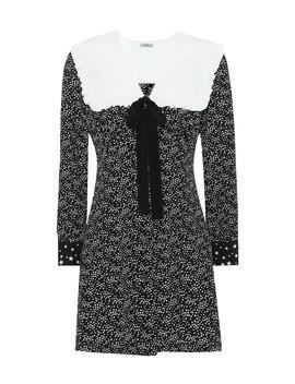 Printed Silk Minidress by Miu Miu