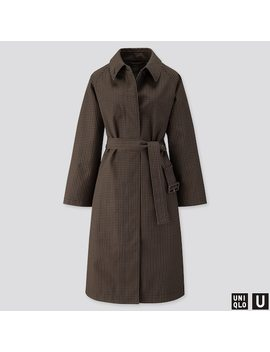 Women Uniqlo U Blocktech Checked Coat (4) by Uniqlo