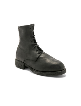 Leather Lace Up Boots by Guidi
