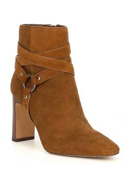 Sestina Suede Block Heel Booties by Vince Camuto