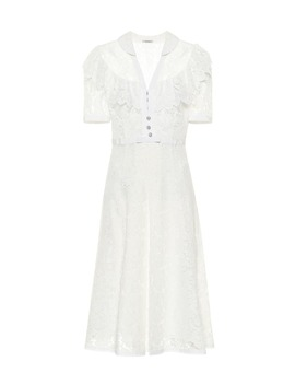 Lace Midi Dress by Miu Miu