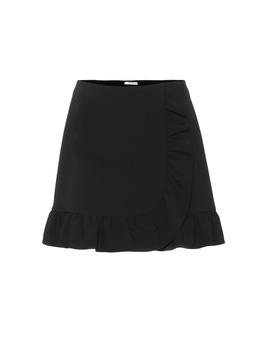 Ruffle Trimmed Miniskirt by Miu Miu