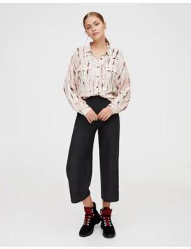 Spodnie Culotte Z Krepy by Pull & Bear